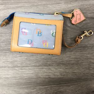 Dooney & Bourke Key Chain Coin Purse Light Blue